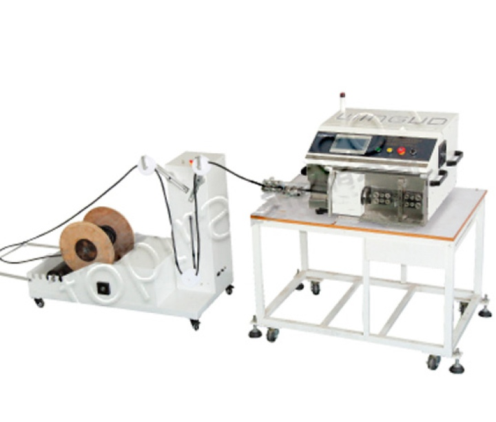 WG-9650 coaxial wire automatic stripping machine