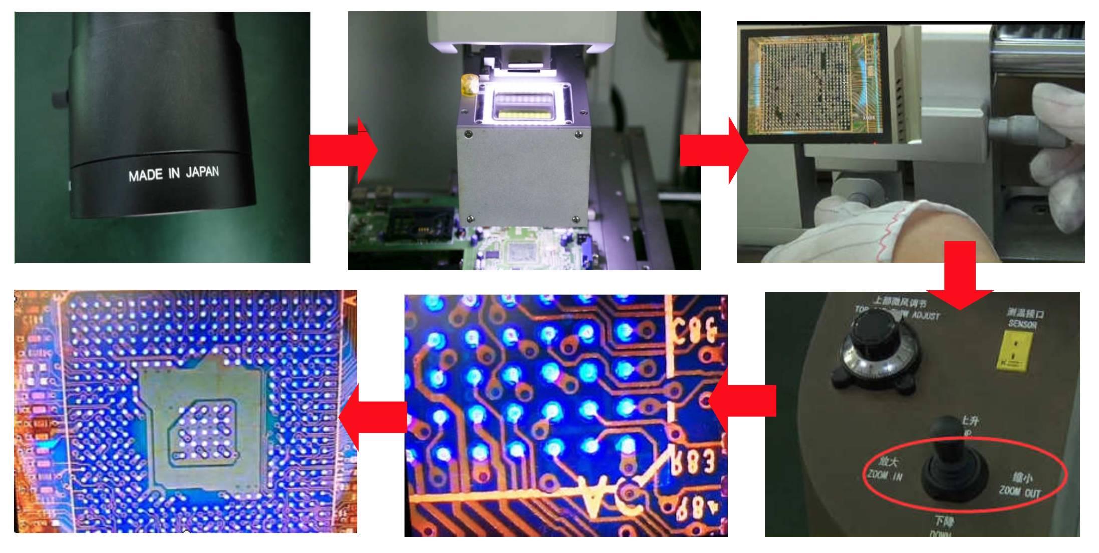 оптическая система позиционирования, Ремонтный центр BGA ZM-R720